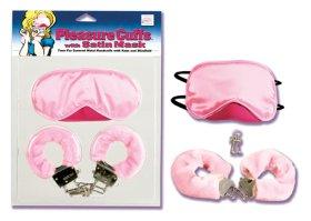 Pleasure Cuffs with Satin Mask
