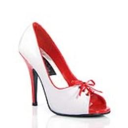 Boty Seduce-216, bílá a červená