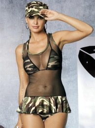 Sexy kostým Soldier dress s/m