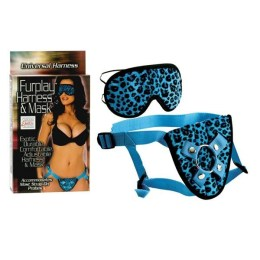 Postroj na připínací penis Furplay Harness and Mask Blue