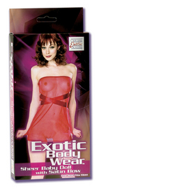 EBW Sheer Baby Doll W/Bow