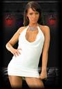 Bella white, mini dress