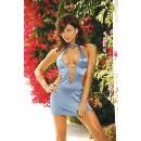 Šaty Satin Lycra Style Dress Blue M