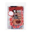 Anální kuličky Silicone X-10 Beads Red