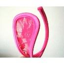 Neviditelné kalhotky C-string elegance růžová krajka