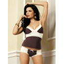 Sexy komplet Choco top and shorts s/m