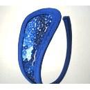 Kalhotky C-string elegance tm. modré s flitry