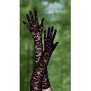 Sexy černé krajkové rukavice