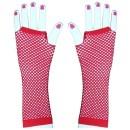 Síťované červené rukavičky